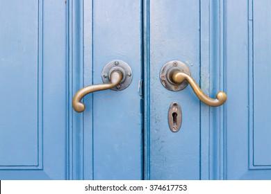 classic blue door