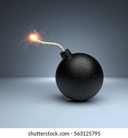 classic bomb concept 3d rendering image