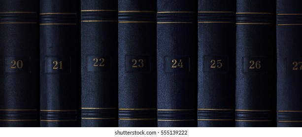 The classic book. Set of vintage books in order. Numbered books. Book texture to education.