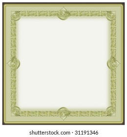 Classic border for diploma or patent.