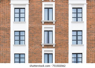 classic brick facade close-up