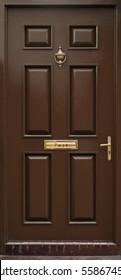 Classic brown door isolated