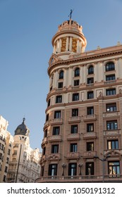 Classic buildings in the capital of Spain, Madrid.