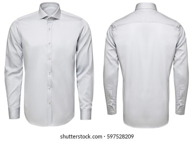 classic and business shirt, isolated white background