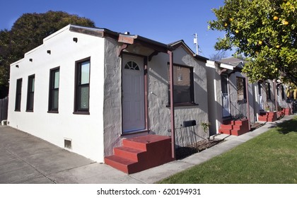 Classic California bungalow architecture from the 1930s.
