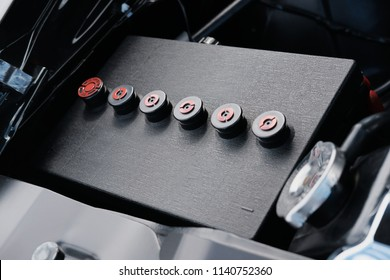 Classic Car Battery in vehicle