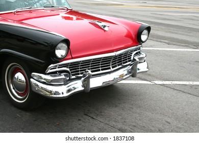 Classic car cruising