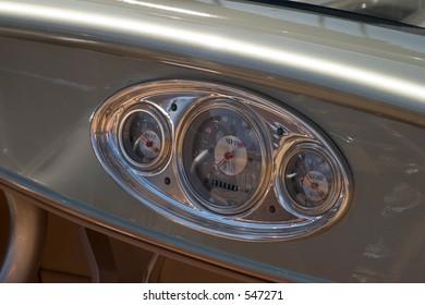 Classic Car Instrument Panel