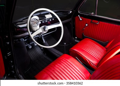 Classic Car Interior   Red Leather