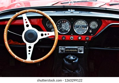 Classic car interior view