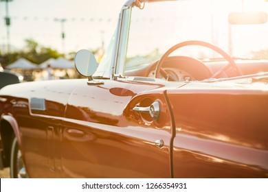 Classic car street display
