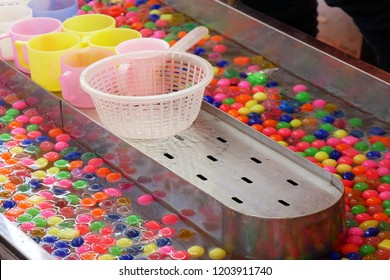 Classic carnival spoon the colorful plastic eggs pond game is favorite game for younger children