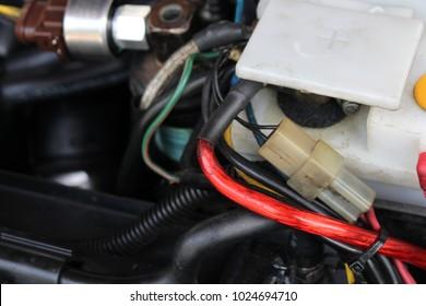 Classic car's engine detail