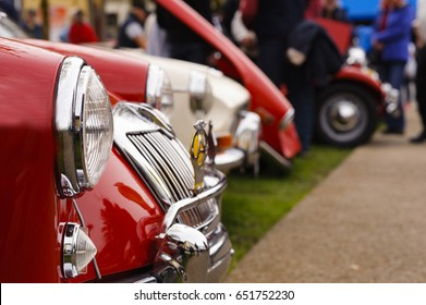 Classic cars at show