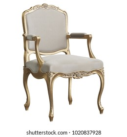 Classic chair on white background 3d rendering