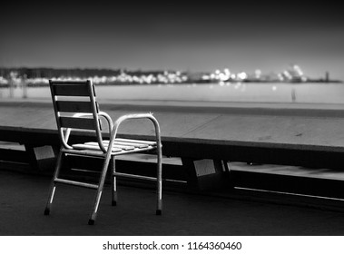 classic chair presence along the croisette street at cannes