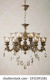 Classic chandelier in the interior