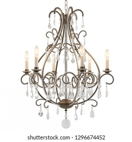 Classic Chandelier isolated on white backgroiund