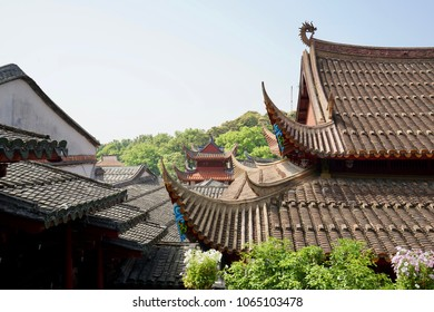 Classic Chinese Temple Tile Roof