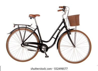 Classic City Bike Isolated Image