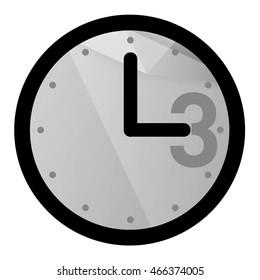 Classic clock icon, 3 o'clock