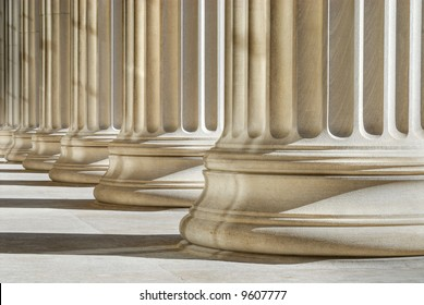 Classic columns background, strength, stability concept