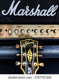 The classic combination of Gibson Guitars and Marshall Amplifiers forms the backbone of the heavy rock sound