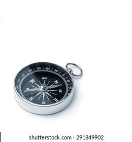 Classic compass isolated, shallow DOF, focus on dial