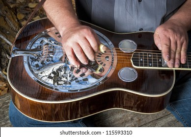 Classic Dobro guitar played my a master