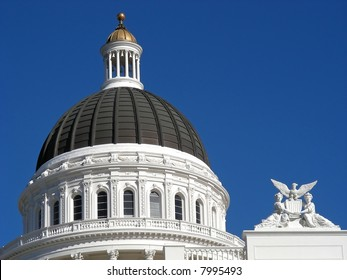 Classic dome on the California State House, Sacramento, California.