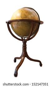A classic earth Globe from the 19th century