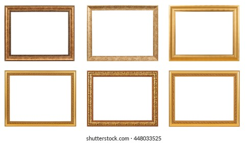 Classic frame isolated on white background.