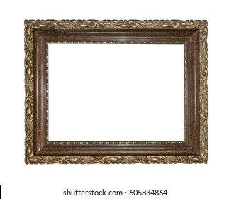 Classic frame isolated on a white background.