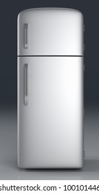 A classic Fridge. 3D rendered Illustration.