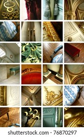 Classic furniture collage