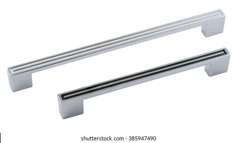 classic furniture handles with white and black patterns on a white background