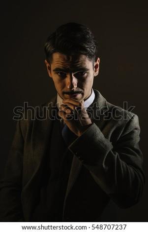 7899d481b024d Classic Gentleman Styled Portrait Man Mustache Stock Photo (Edit Now ...