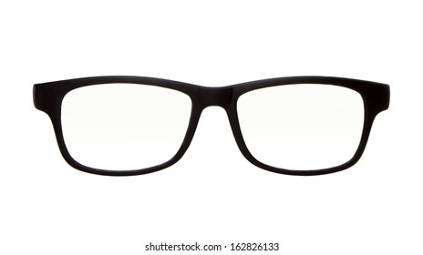 classic glasses isolated on white  for the frames and lenses so you can easily put your own character in