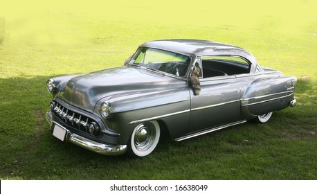 classic grey sedan taken in southern ontario