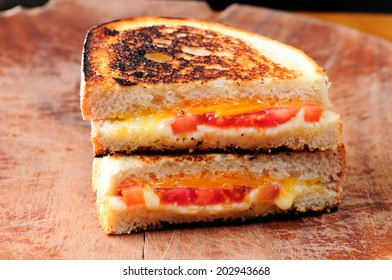 classic grilled cheese and tomato sandwiches