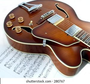 Classic hollow body guitar