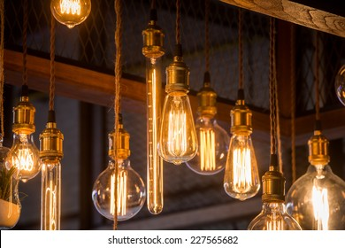 classic incandescent decorate in the shop