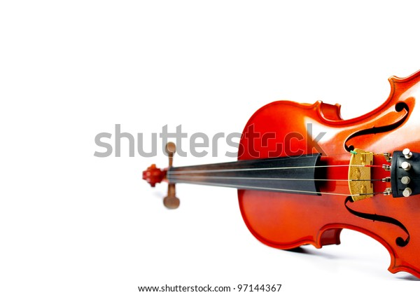 Classic instrument, Violin on white background