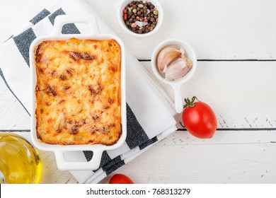Classic Lasagna with bolognese sauce and bechamel sauce.