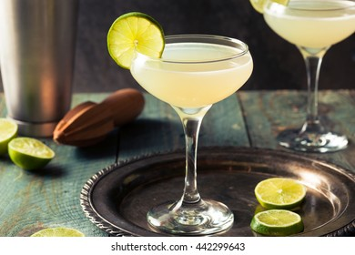 Classic Lime Daiquiri Cocktail with a Garnish