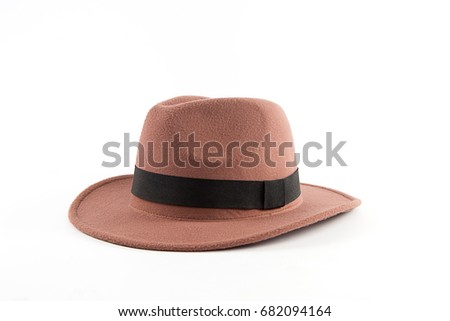Classic Low Crown Fedora Hat Isolated Stock Photo (Edit Now ... bc58b1b463d