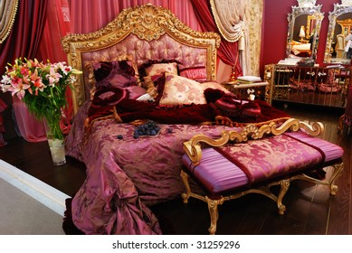 Classic luxury expensive bedroom interior