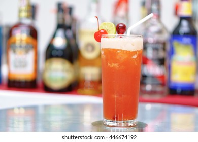 Classic Mai Thai cocktail with light rum