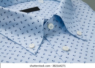 Classic men's shirt collar detail
