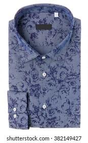 Classic men's shirt folded